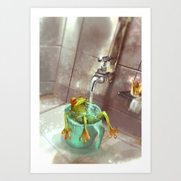 The Frog King Art Print