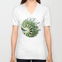 fractal V-neck T-shirts featuring Fractal by A Wandering Soul