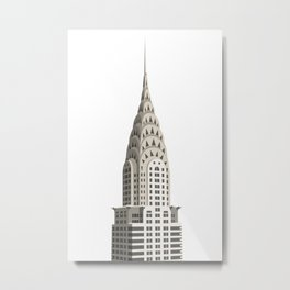 Manhattan Skyscraper Illustration Metal Print