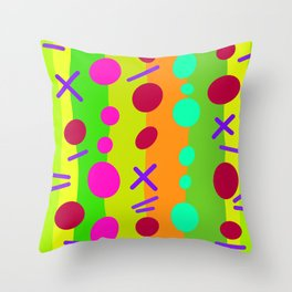Party Time / Green Throw Pillow