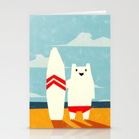 yetiland Stationery Cards featuring Surf! by Yetiland