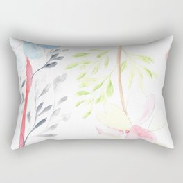 170404 Steady Pacing 14 |Modern Watercolor Art | Abstract Watercolors Rectangular Pillow