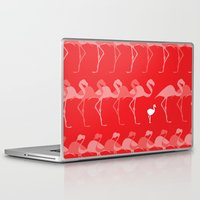 flamingos Laptop & iPad Skins featuring Flamingos by Dana Martin