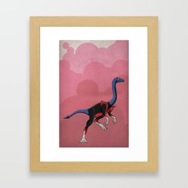 Nightcrawlimimus - Superhero Dinosaurs Series Framed Art Print