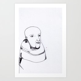 he is a monk. he knows he is a monk. Art Print
