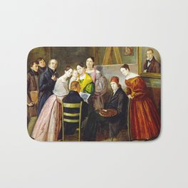 A Painter and Visitors in a Studio Bath Mat