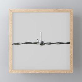 Fuck fence Framed Mini Art Print