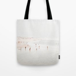 At The Beach (two) - minimal beach series - ocean sea photography by Ingrid Beddoes Tote Bag