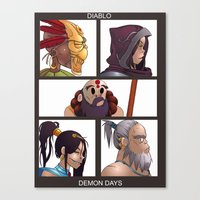 gorillaz Canvas Prints featuring Diablo Days by Philtomato