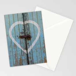 Rustic Blue Heart Stationery Cards