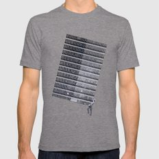Weight LARGE Tri-Grey Mens Fitted Tee