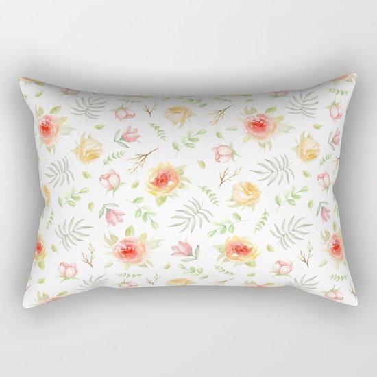 Vintage pattern. Roses Rectangular Pillow