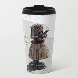 Wolfen Hula Babe Metal Travel Mug
