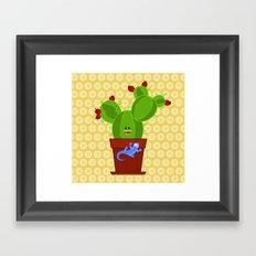 my dear cactus Framed Art Print