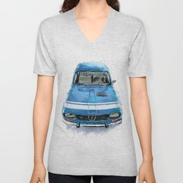 Renault 12 Gordini Unisex V-Neck