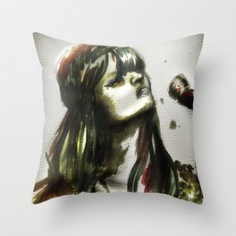 Bat for lashes Throw Pillow
