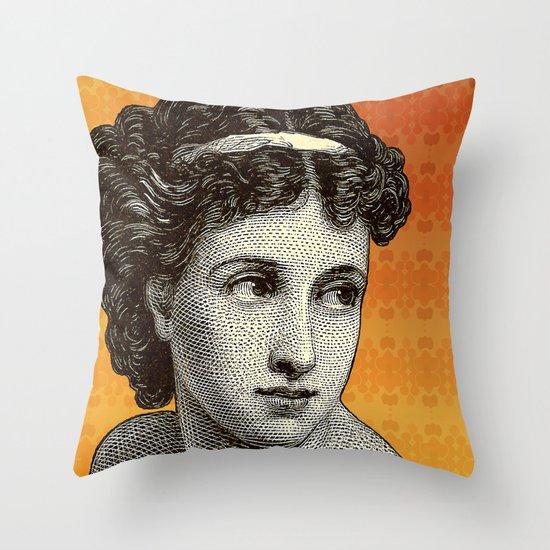 Seductress Orange Throw Pillow