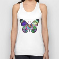lsd Tank Tops featuring LSD butterfly by Pink Eyed Paranoia