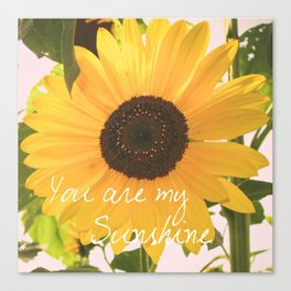 You are my sunshine... Canvas Print