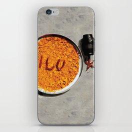 059 Turmeric luv with camera iPhone Skin
