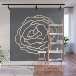 Rose White Gold Sands on Storm Gray Wall Mural