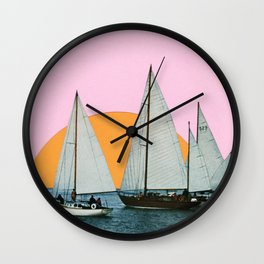 Into the Sunset Wall Clock