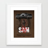 sam smith Framed Art Prints featuring Sam by Six Eyed Monster