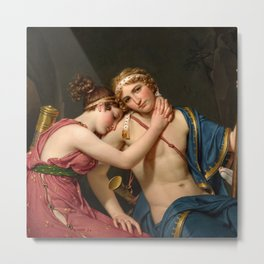 """Jacques-Louis David """"The Farewell of Telemachus and Eucharis"""" Metal Print"""