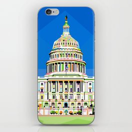 Capitol Building in Anomali WPAP iPhone Skin