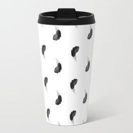 Black feather Travel Mug