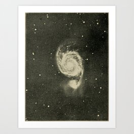 Lucas Albert Reed - Astronomy and the Bible (1919) - The Whirlpool Galaxy Art Print