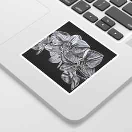 Silver Orchid Sticker