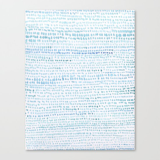 BLUE/GREEN DOTTED PATTERN  Canvas Print