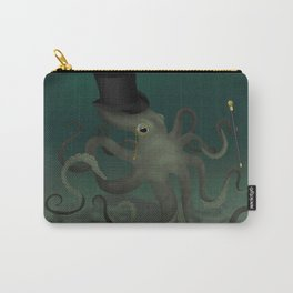 Octopus with a top hat Carry-All Pouch
