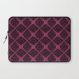 African Mud Cloth Inspired   Pink, Purple Diamonds Laptop Sleeve