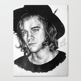 Harry Styles Drawing Canvas Print