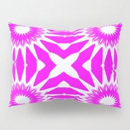 Hot Pink & White Pinwheel Flowers Pillow Sham