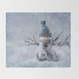 Snowman Throw Blanket