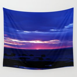 Dusk on the Sea Wall Tapestry