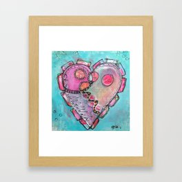 Just like our eyes, our hearts have a way of adjusting to the dark Framed Art Print