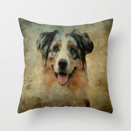 Australian Shepard - Aussie Throw Pillow