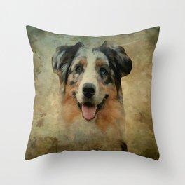 Australian Shepard - Aussie Throw Pillow
