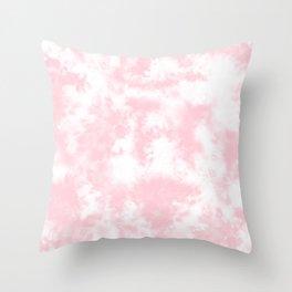 Pink Tie Dye & Batik Throw Pillow