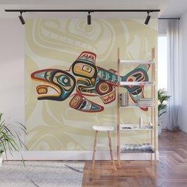 Haida Salmon Story Wall Mural