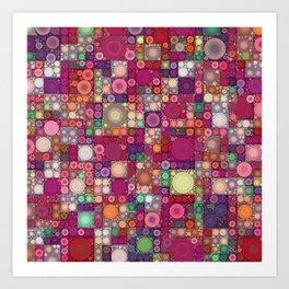 Bubble Quilt Art Print