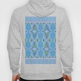 Mesmerizing Tribal Print in Light Blue Hoody