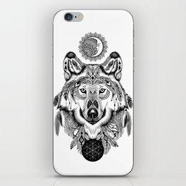 Bohemian Celestial Wolf iPhone Skin