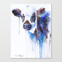 cow Canvas Prints featuring Cow by Slaveika Aladjova