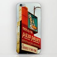 pizza iPhone & iPod Skins featuring Pizza by Hazel Bellhop