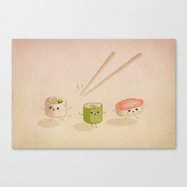 Running Sushi Canvas Print